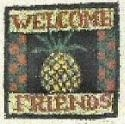 Welcome PineappleKaren Amadio Gates Folk Art Designs - Product Image