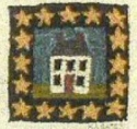House with StarKaren Amadio Gates Folk Art Designs - Product Image