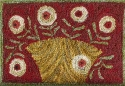 Red Cupboard Door Flower BasketM Shaw Folk Art Collections - Product Image