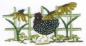 Rooster & SunflowersCheryl Mihills/Homespun Designs for Punch Needle - Product Image