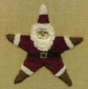 Star SantaCheryl Mihills/Homespun Designs for Punch Needle - Product Image