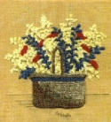Basket of FlowersCheryl Mihills/Homespun Designs for Punch Needle - Product Image