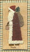 Santa with LanternCheryl Mihills/Homespun Designs for Punch Needle - Product Image