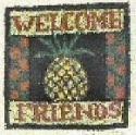Welcome PineappleKaren Amadio Gates Folk Art Designs - Product Image