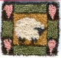 Folk Art Sheep PinKaren Amadio Gates Folk Art Designs - Product Image