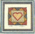 Folk Heart RugKaren Amadio Gates Folk Art Designs - Product Image