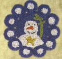 Penny SnowmanHooked on Rugs/Little Stitches - Product Image