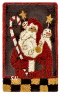 Santa & FriendsHooked on Rugs/Little Stitches - Product Image